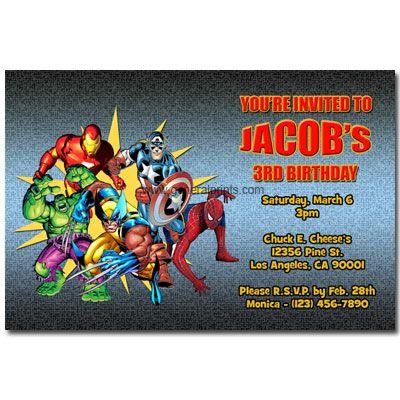 free superhero invitation template