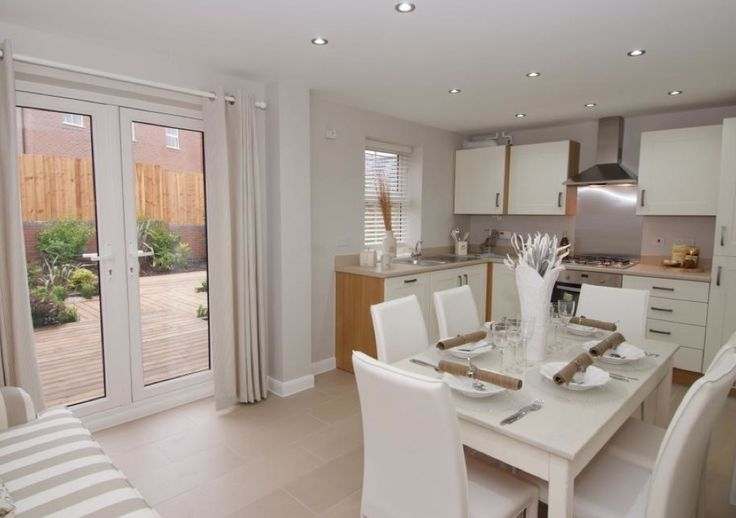 David Wilson Homes Hadley At The Greens Leicester Road Hinckley French Kitchendining Room