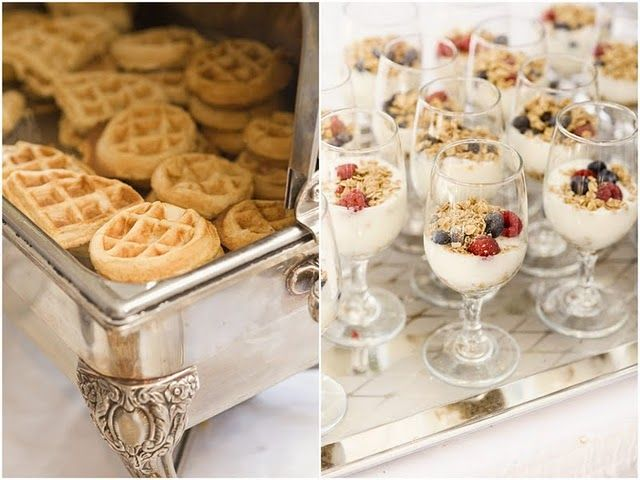 Waffles And Parfaits! At A Wedding! A Breakfast Reception