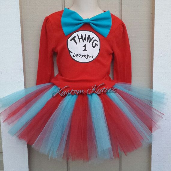 Thing 1 and thing 2 tutu sets Birthday outfit for by KustomKutiez, $17.00