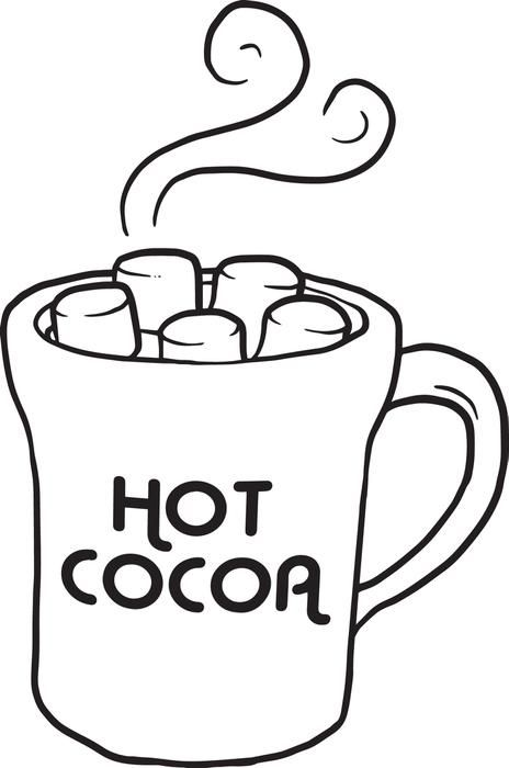 cup of hot cocoa coloring page  christmas fun