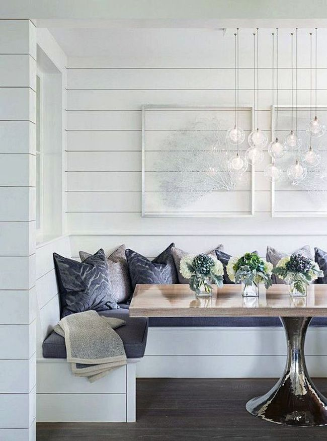Breakfast Nook With Shiplap Dining Rooms Pinterest
