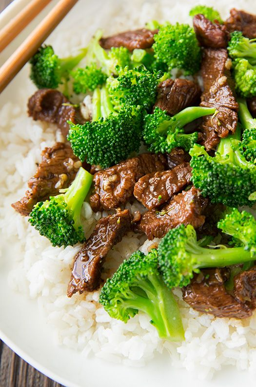 Slow Cooker Beef and Broccoli – only takes about 10 minutes prep and the slow cooker does the rest. So good!