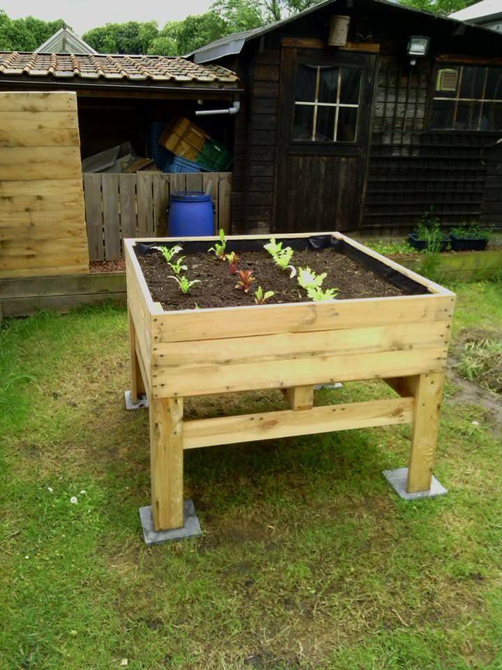 Raised Vegetable Planter Potager Sur 233 Lev 233 Pallet Ideas