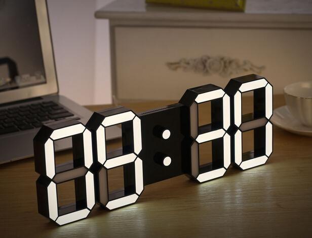 Creative Remote Control Large Led Digital Wall Clock Modern Design Home Decor Decoration Decorative