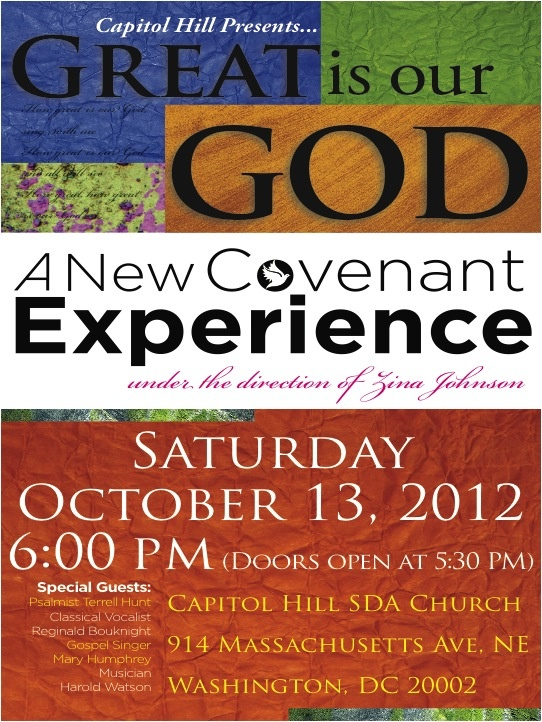 FLYER - New Covenant Experience (15th Anniversary) Concert ...
