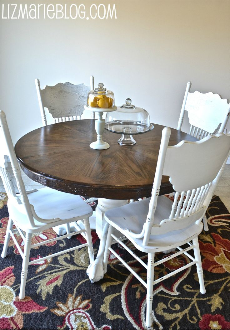 Wood Stain Amp White Kitchen Table DIY Pinterest Wood Stain