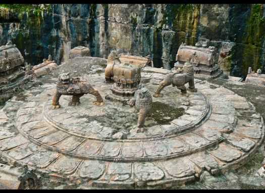 Image result for kailash temple lions
