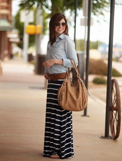 1000 Images About Black And White Striped Maxi Skirt On