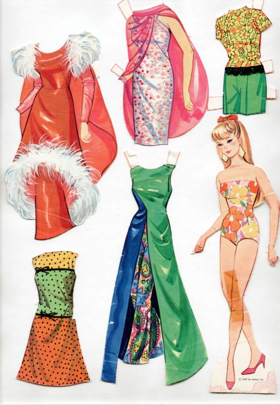 Vintage Whitman/Mattel BARBIE HAS A NEW LOOK paper dolls ...