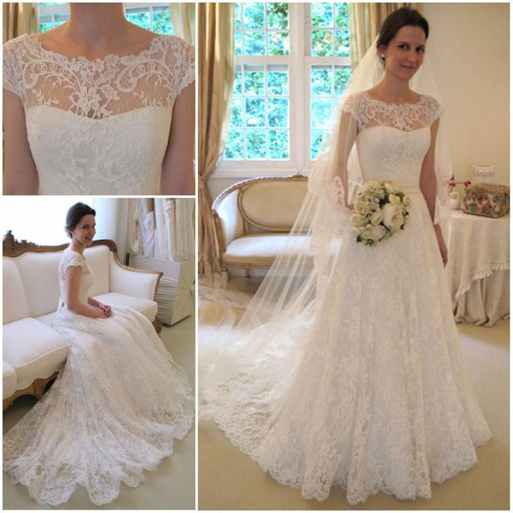 2013 New arrival vestidos de noivas vintage lace wedding dress short sleeve for autumn bridal dress Best quality soft lace US $329.99: