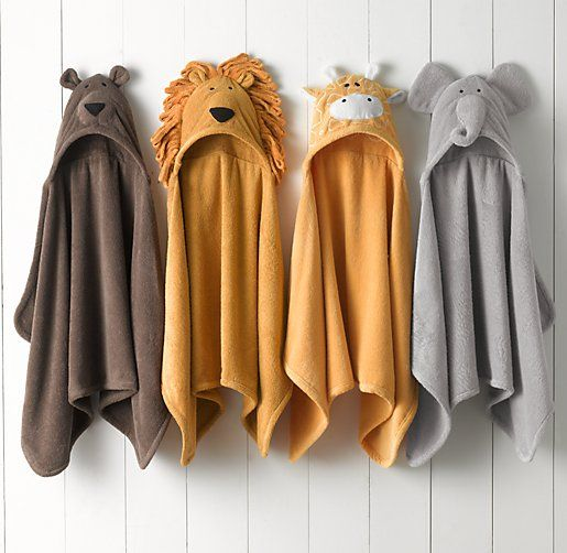 Animal Hooded Towel – Newborn | Hooded Towels | Restoration Hardware Baby & Child