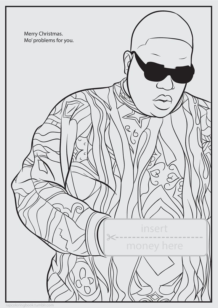 Rap Artist Coloring Pages Coloring Page