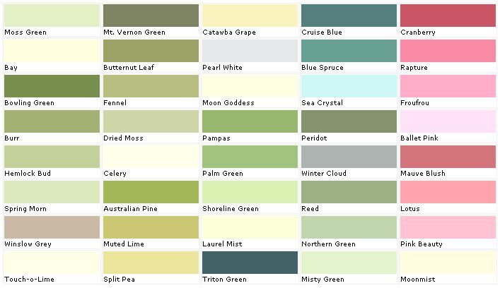Lowes Paint Color Chart House Chip Sample