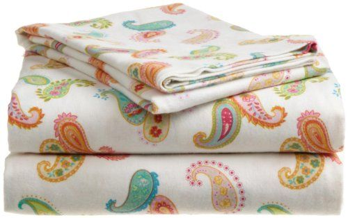 Tommy Hilfiger Flannel Queen Sheet Set, Ashley Paisley