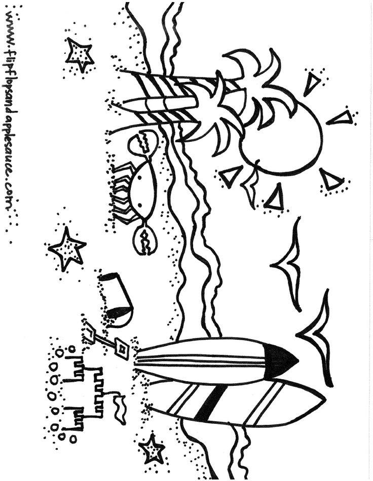 beach coloring page  classroom ideas  pinterest  beach
