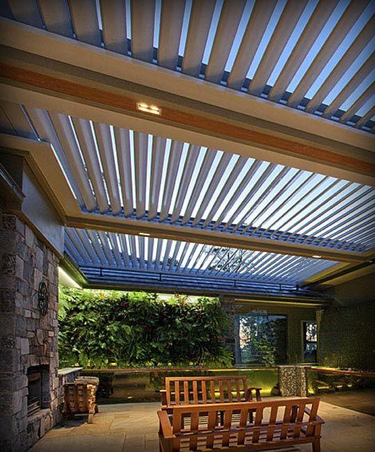 Pergola With Open Close Roof Patio Pinterest Pergola
