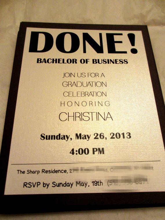 High School Grad Invitations