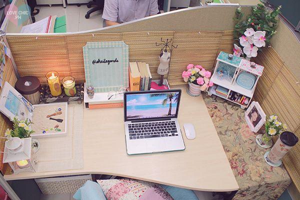 Shai Lagarde Love Chic Style Blogger Cubicle Decor Beach Inspired Summer Theme Work Space Office