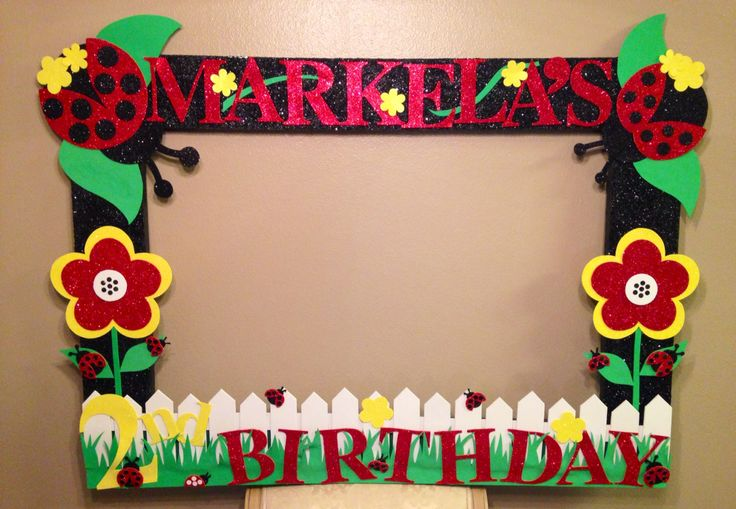 Diy Birthday Photo Frame Prop Frameswalls