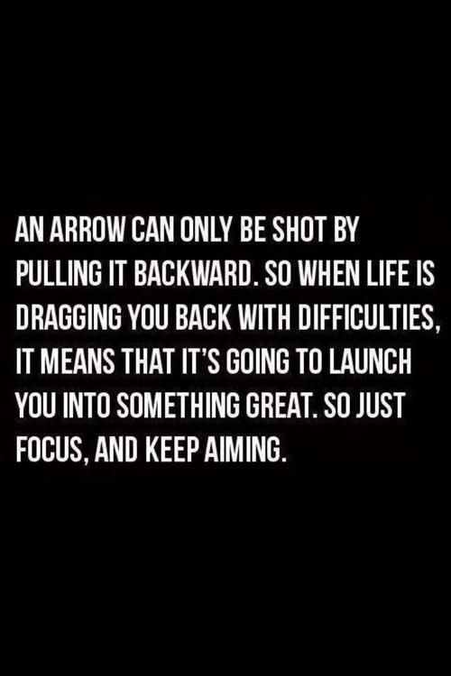 And arrow can only be shot