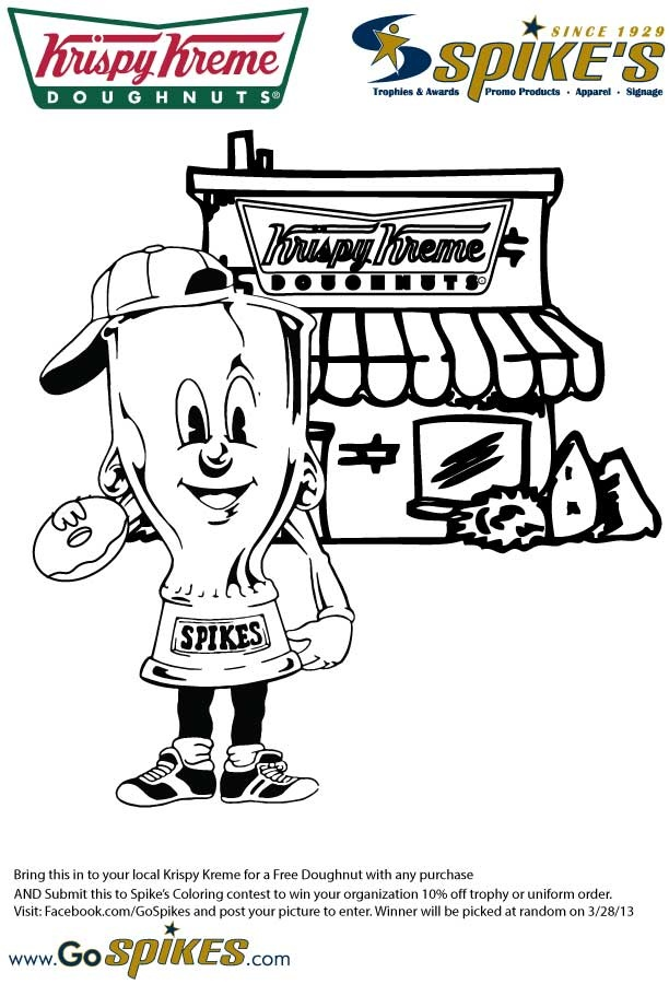 Coloring Page Bring It To Your Local Krispy Kreme For A