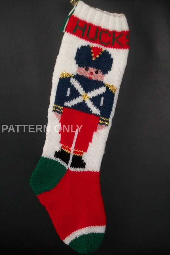 Pdf Pattern Only Hand Knitted Toy Soldier Christmas