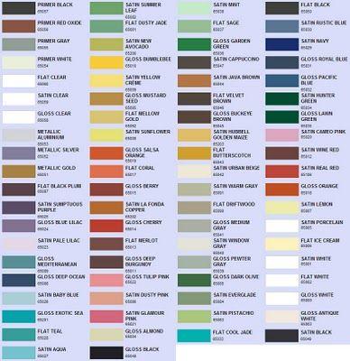 spray paint color choices valspar rustoleum and krylon on valspar paint color chart id=57243
