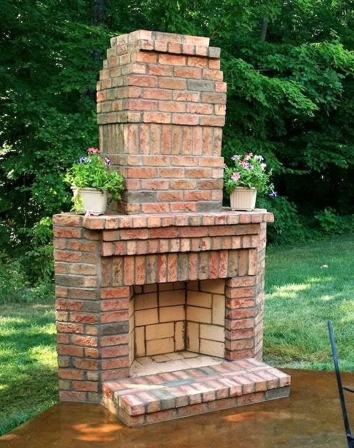 Corner Brick Fireplaces - WoodWorking Projects & Plans on Simple Outdoor Brick Fireplace id=20539