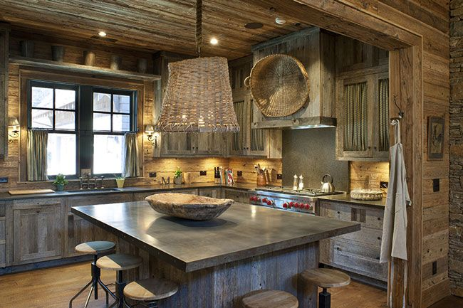 Located In The Mountains Of North Carolina This Kitchen Uses Cabinets Made From Aged Gray Barn