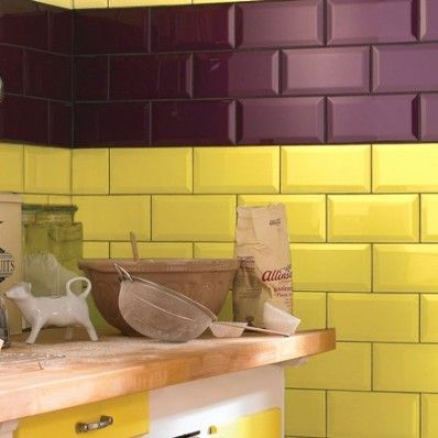 The Metro Yellow Wall Tile Is A Bright Modern And