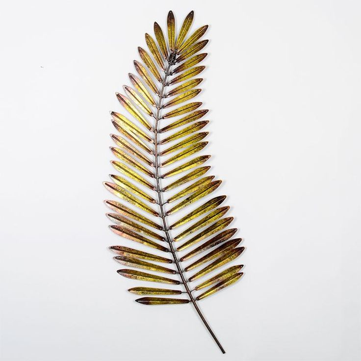 Metal Palm Leaf Modern Wall Art This Piece Of Wall Art Features A Stunning Sculpted Palm Leaf