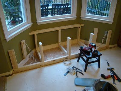 Angled Window Seat In The Making Looks Like Similar Size