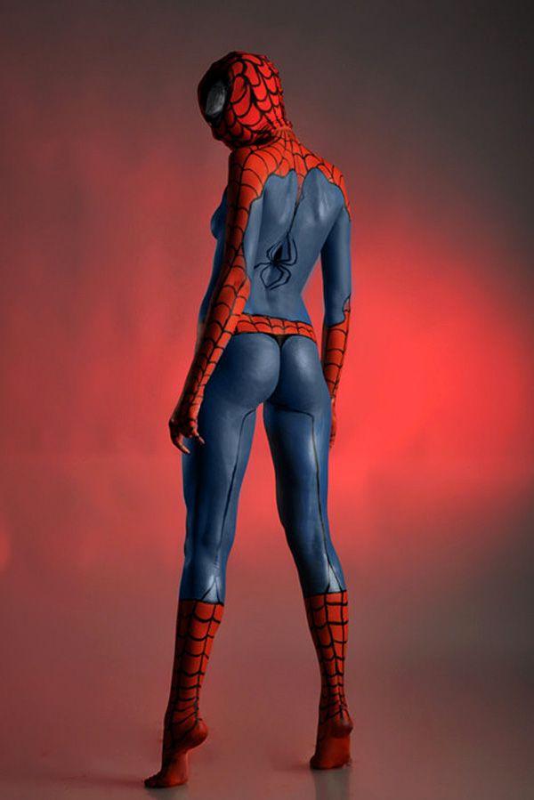 Spider Girl Body Paint Latex Pinterest Girl Body