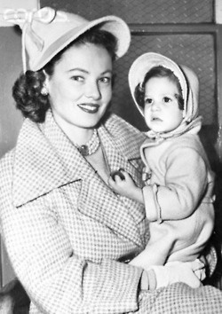 Gene Tierney and daughter Christina Gene Tierney