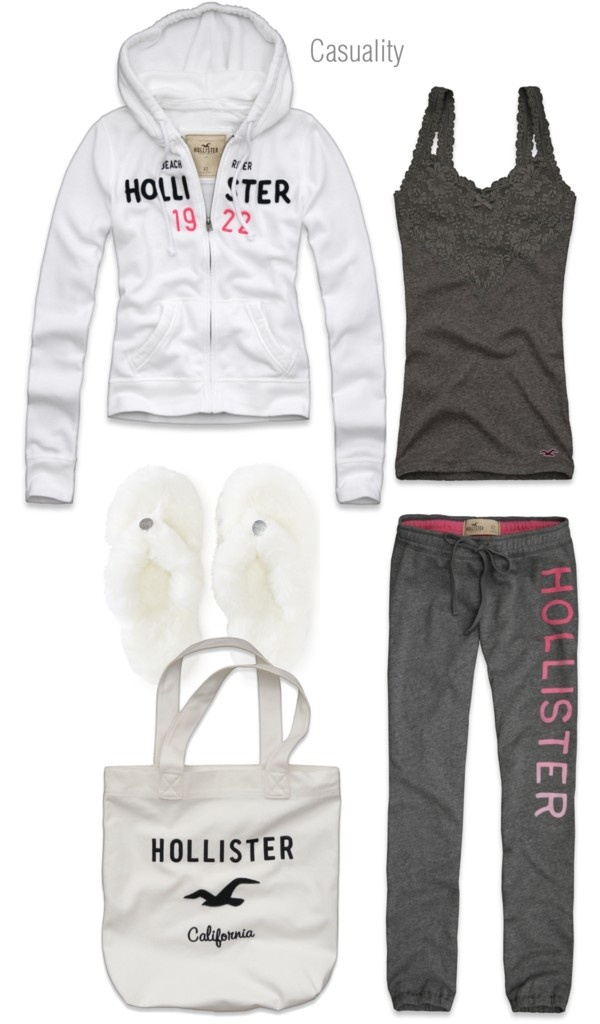 """Hollister Pajama Party"" by casuality on Polyvore Different shoes and I would we"