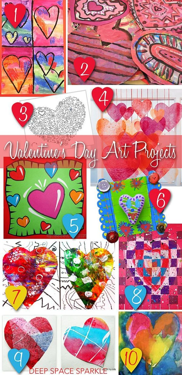 Valentine's Day Art Projects and Resource Round-up | For ...