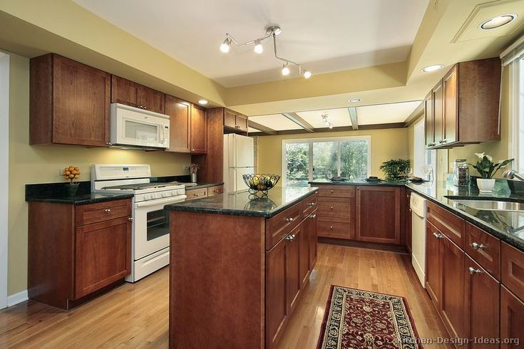 best color with cherry cabinets traditional medium wood on good wall colors for kitchens id=16847