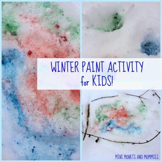 Kids' winter art activity- snow paint!
