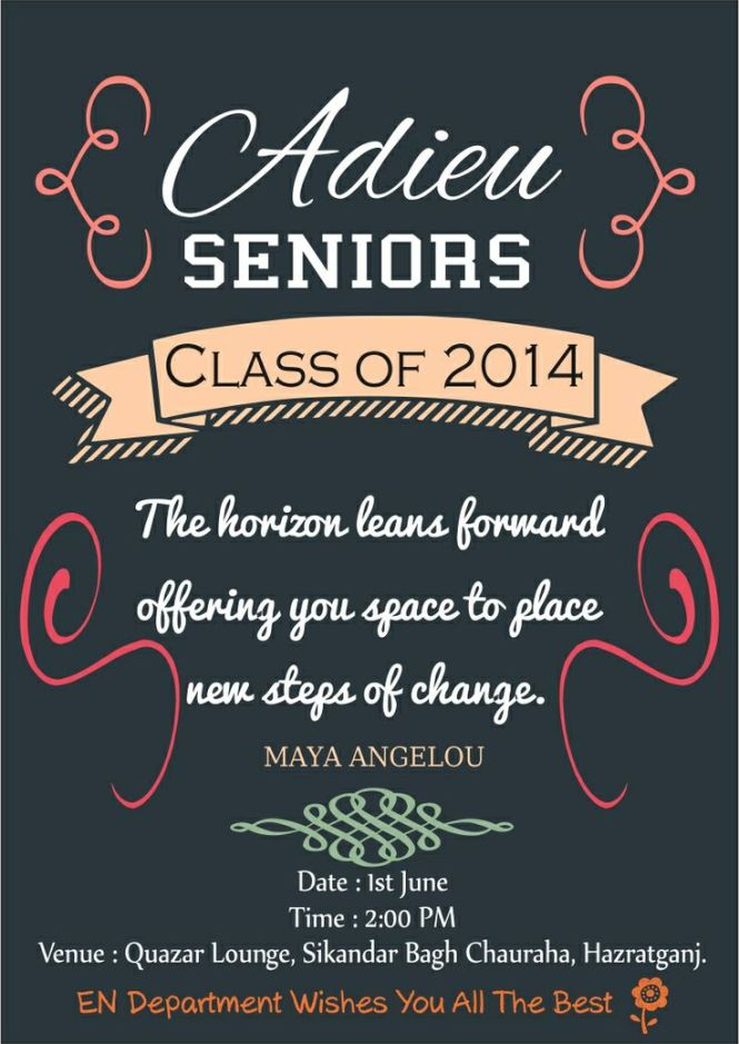 Farewell Party Invitation Cards For Seniors Image Gallery  Hcpr