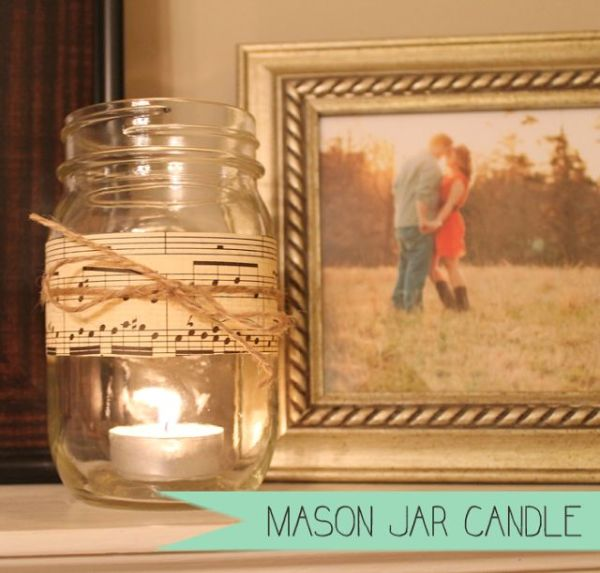 {HOME} DIY Mason Jar Candle | Jars, Home and Masons