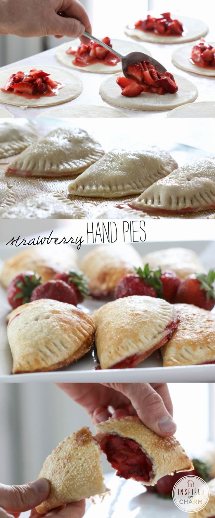 Strawberry Hand Pies | via @Michael Wurm Jr. | Inspired by Charm