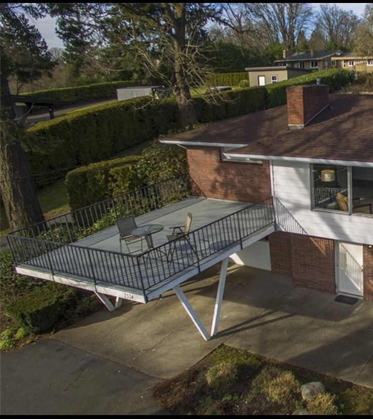 Too Modern For Me But So Unique Carport With Deck