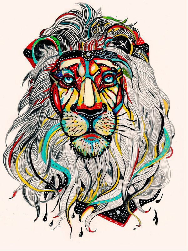 Color looks really cool on lion brings out the texture and shape-Damian