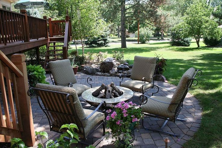27 best Stone Patio Paver/Firepit Designs images on Pinterest on Backyard Retreat Ideas id=67383