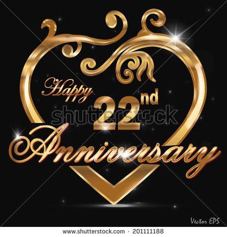 22 Year Anniversary Images 22 Year Anniversary Golden Label 22nd Anniversary Decorative