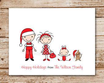 Stick Family Family Christmas Cards And Family Christmas