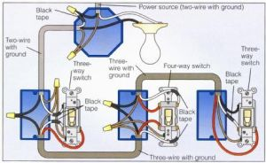 Power at Light 4Way Switch Wiring Diagram | Wiring