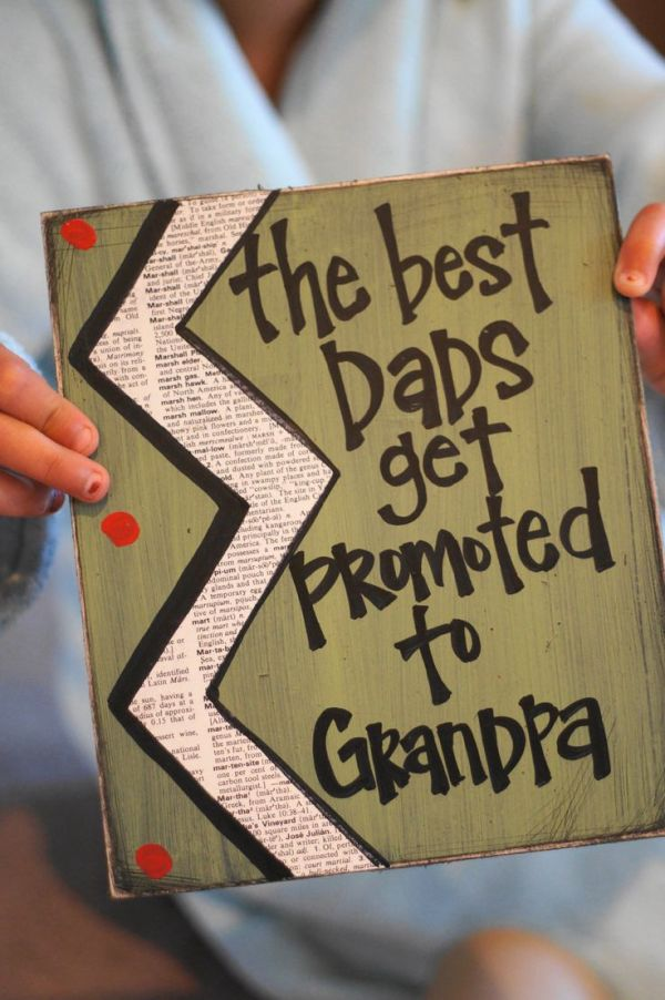 Best dad's get promoted to grandpa card | Dads ...