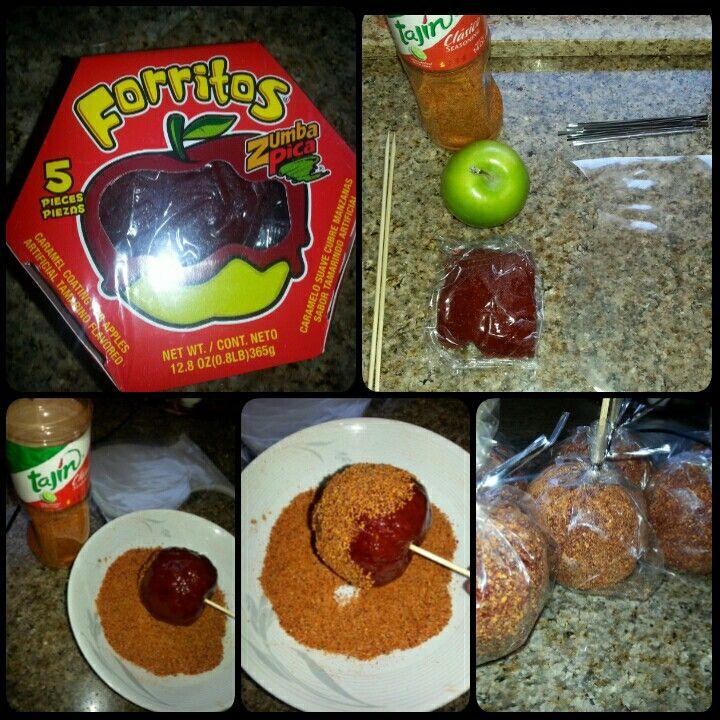 Green apples with tamarindo and tajin applepops my own